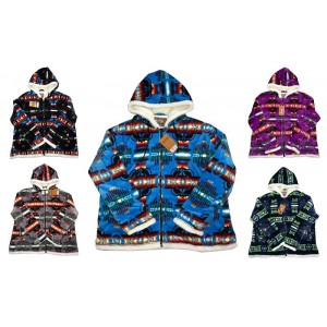 Women's Hooded Sherpa Jackets